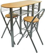 vidaXL Ensemble de table et de chaises de bar /
