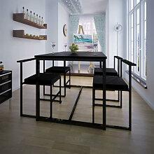 vidaXL Ensemble de table et de chaises de salle à