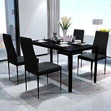 vidaXL Ensemble de table pour salle à manger cinq