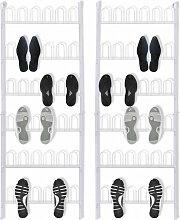 vidaXL Étagère à chaussures 18 Paires 2 pièces