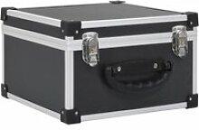 Vidaxl étui de cd pour 40 cd aluminium abs noir