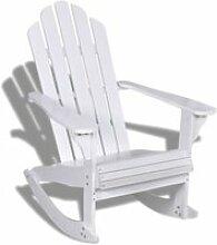 Vidaxl fauteuil à bascule bois chaise relaxation