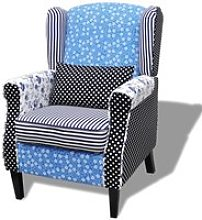 Vidaxl fauteuil avec design de patchwork tissu