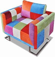 vidaXL Fauteuil cube avec design de patchwork