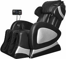 vidaXL Fauteuil de massage avec écran Noir