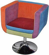 vidaXL Fauteuil Design Club Design Patchwork Multi