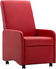 vidaXL Fauteuil Inclinable Rouge Similicuir