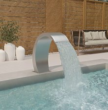 Vidaxl - Fontaine de piscine 30x60x70 cm Acier