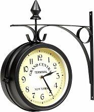 Vidaxl - Horloge murale double face 20 cm