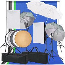 vidaXL Kit d'éclairage de studio photo