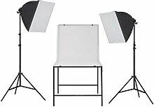 vidaXL Kit de Studio de Photo avec Table de Prise