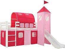 Vidaxl - Lit Mezzanine d'Enfants avec Toboggan