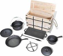 Vidaxl - Lot de casseroles batterie de cuisine 9