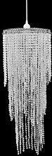 vidaXL Lustre suspendu Crystal 26 x 70 cm