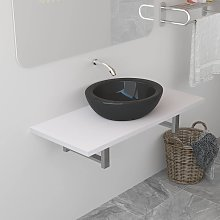 vidaXL Meuble de salle de bain Blanc 90x40x16,3 cm