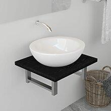 vidaXL Meuble de salle de bain Noir 40x40x16,3 cm