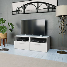 vidaXL Meuble TV Aggloméré 95 x 35 x 36 cm Blanc