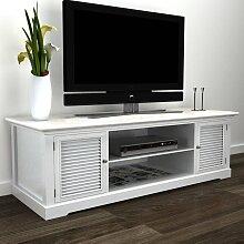 vidaXL Meuble TV Blanc Bois