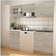 Vidaxl meubles de cuisine aspect chêne 200 cm