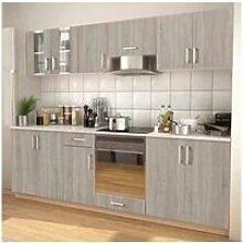 Vidaxl meubles de cuisine aspect chêne 260 cm