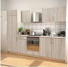 Vidaxl meubles de cuisine aspect chêne 270 cm