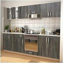 Vidaxl meubles de cuisine aspect wengé 260 cm
