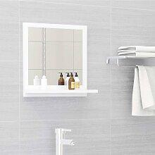 vidaXL Miroir de salle de bain Blanc 40x10,5x37 cm