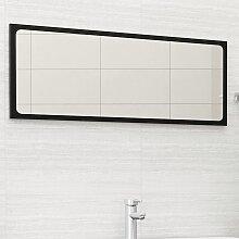 vidaXL Miroir de salle de bain Noir 100x1,5x37 cm