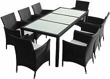Vidaxl - Mobilier à dîner de jardin 9pcs et