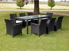 vidaXL Mobilier à dîner de jardin 9pcs et