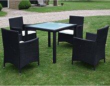 vidaXL Mobilier à dîner jardin 5 pcs avec