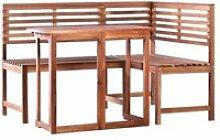 Vidaxl mobilier de balcon 2 pcs bois d'acacia