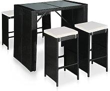 vidaXL Mobilier de bar de jardin 5 pcs Résine