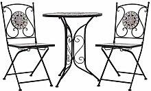 vidaXL Mobilier de Bistro 3 pcs Mosaïque Table et