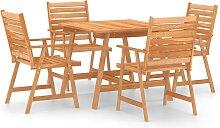vidaXL Mobilier de salle à manger de jardin 5 pcs