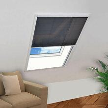 vidaXL Moustiquaire plissée pour fenêtre 110 x