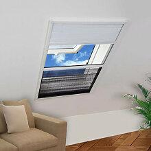 vidaXL Moustiquaire plissée pour fenêtre 160 x