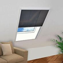 vidaXL Moustiquaire plissée pour fenêtre