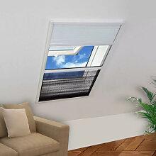 vidaXL Moustiquaire plissée pour fenêtre et