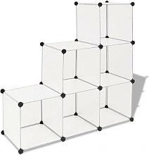 vidaXL Organisateur de rangement cube avec 6