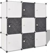 vidaXL Organisateur de rangement cube avec 9