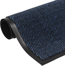vidaXL Paillasson rectangulaire 60 x 90 cm Bleu