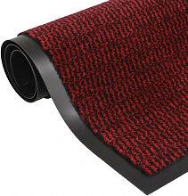vidaXL Paillasson rectangulaire 90 x 150 cm Rouge
