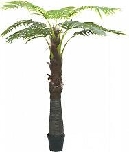 vidaXL Palmier artificiel avec pot 240 cm Vert