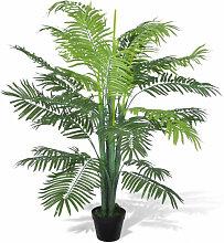 vidaXL Palmier Phoenix artificiel avec pot 130 cm