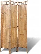 vidaXL Paravent à 3 panneaux en bambou