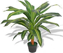 vidaXL Plante artificielle avec pot Dracaena 90 cm