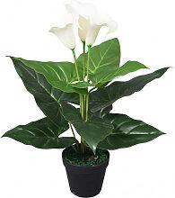 vidaXL Plante artificielle avec pot Lis Calla 45