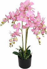 vidaXL Plante artificielle avec pot Orchidée 75