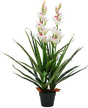 vidaXL Plante artificielle Orchidée Cymbidium